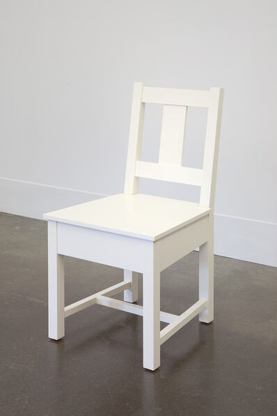 Roy McMakin, 'White Slatback Chair', 1998
