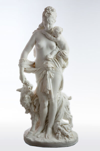 Albert-Ernest Carrier-Belleuse, 'Le Retour des Champs 'Return from the Harvest' Carrara Marble, Signed and Dated', 1860 -1870