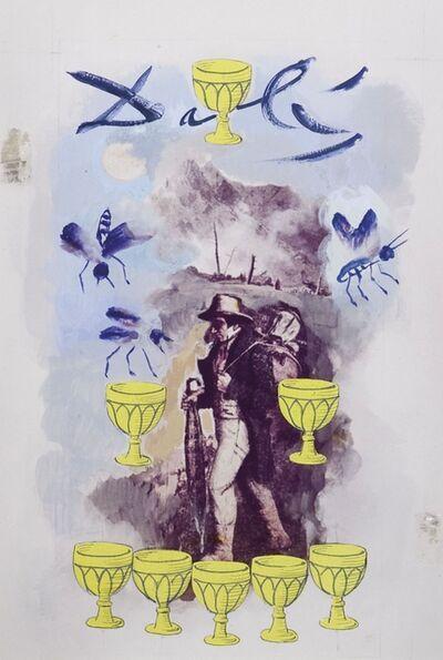 """Salvador Dalí, 'Huit (8) de coupe, arcane mineur, projet pour le jeu de cartes """"Le Tarot Universel de Salvador Dalí"""" ', 1971"""
