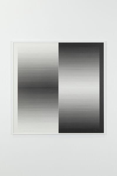Getulio Alviani, 'Graphic programming: positive-negative, 105/125', 1962