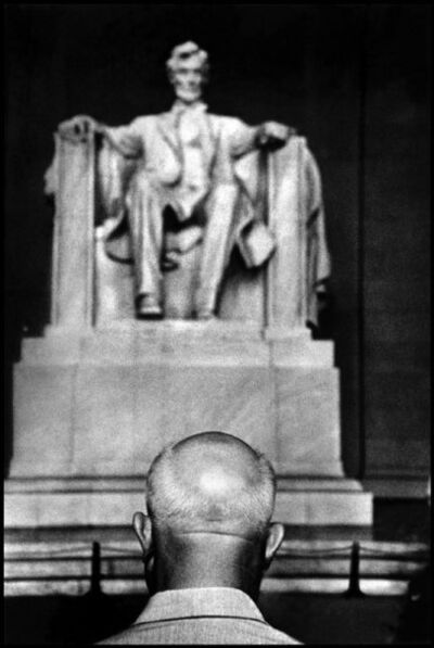 Burt Glinn, 'Nikita Khrushchev in front of the Lincoln Memorial. Washington, D.C, USA. ', 1959