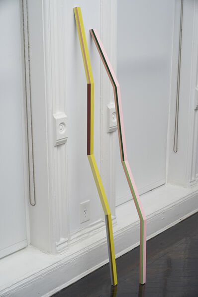 Diana de Solares, 'Doble línea que Toca el Suelo y Apunta al Cielo (Double line that touches the floor and points to the sky)', 2014