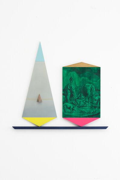 sebastian neeb, 'Absurdes hinter Heliogrün vs Dreiecksform mit kantiger Nase und Orangenhaut', 2016