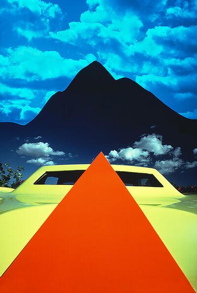 Mitchell Funk, 'Orange Pyramid Yellow Car Black Pyramid Mountain', 1978