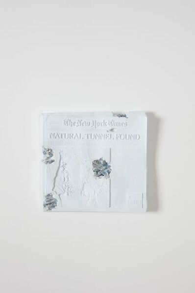 Daniel Arsham, 'Blue Calcite Eroded New York Times', 2020