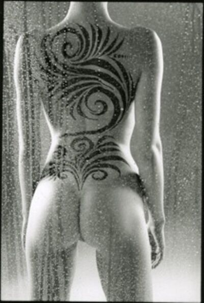 Hervé Lewis, 'Nu tatoué debout de dos', 2015