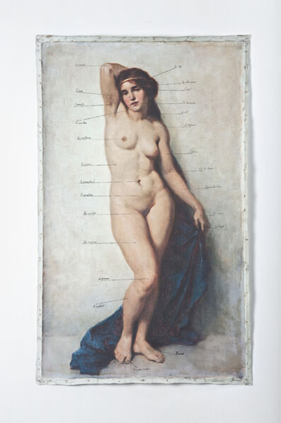 Hans-Peter Feldmann, 'Nude with words'