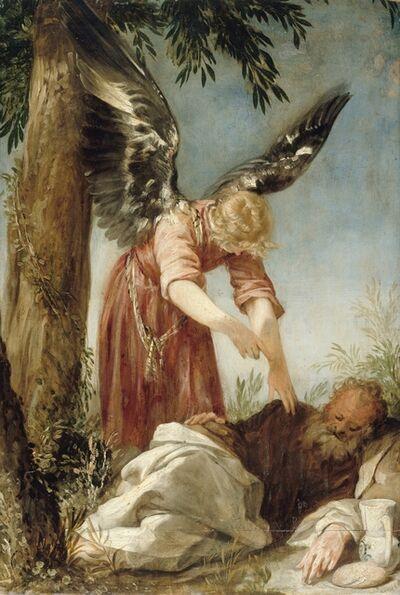 Juan Antonio de Frias, 'Der Engel erweckt den Propheten Elias in der Wüste', 1650/60
