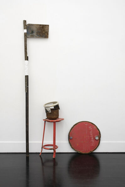 Olu Oguibe, 'Composition with Red Stool (Homenaje a Danilo)', 2019
