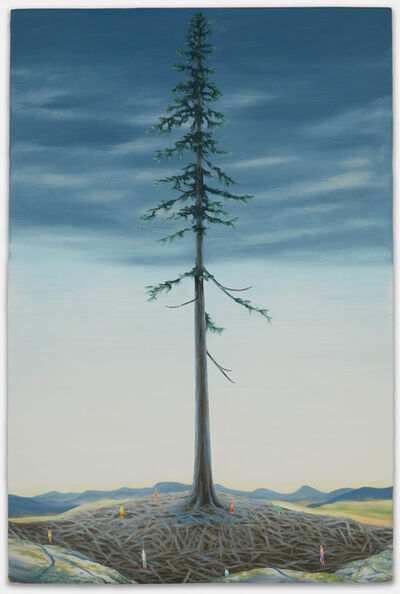 Dan Attoe, 'Fir Tree with Congregants', 2020