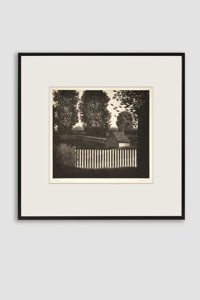 Robert Kipniss, 'The Small Picket Fence Mezzotint by Robert Kipniss', 1982