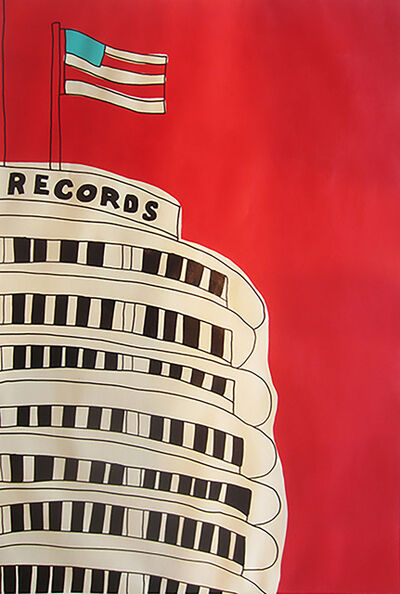 Marz Junior, 'Capital Records Building - Right panel', 2015