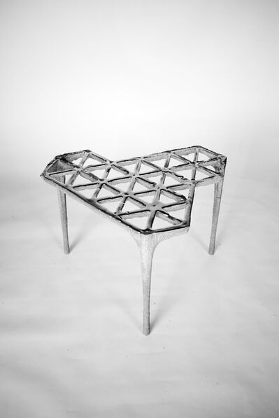 Max Lamb, '30 Triangles stool, from Pewter series', 2014