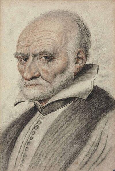 Nicolas Lagneau, 'Portrait of a bearded man, bust-length, in three-quarter profile facing left'