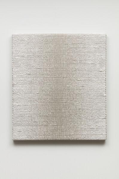 Analia Saban, 'Woven Vertical Linear Gradient as Weft (Center, White)', 2019