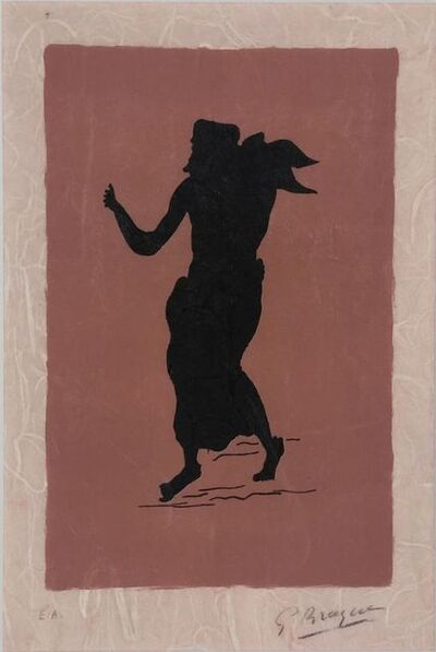 Georges Braque, 'Personnage sur fond rose ', ca. 1960