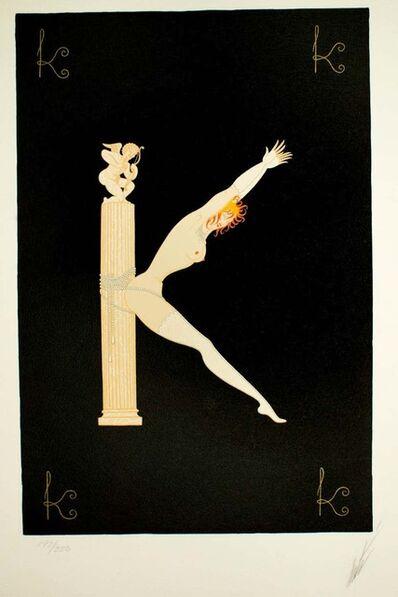 """Erté (Romain de Tirtoff), 'Letter """"K""""', 1976"""