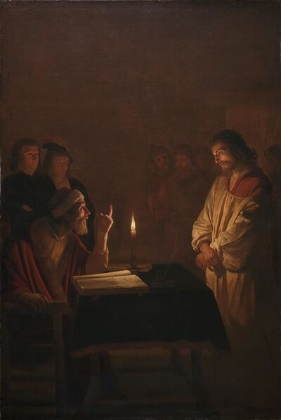 Gerrit van Honthorst, 'Christ before the High Priest', ca. 1617