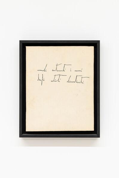 Nicola De Maria, 'Mobile Infinito (Armadi contenenti i nomi degli artisti dimenticati)', 1981