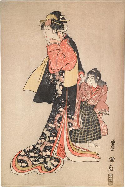 Utagawa Toyokuni I, 'Segawa Kikunojo III and Sawamura Genosuke I', ca. 1794