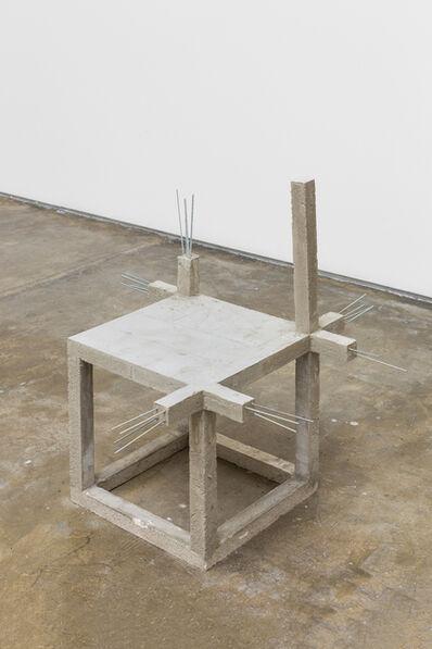 Felipe Arturo, 'Unfinished concrete chair #6', 2015