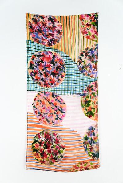 Lauren Luloff, 'Pink stripes (portraits of Alex)', 2019