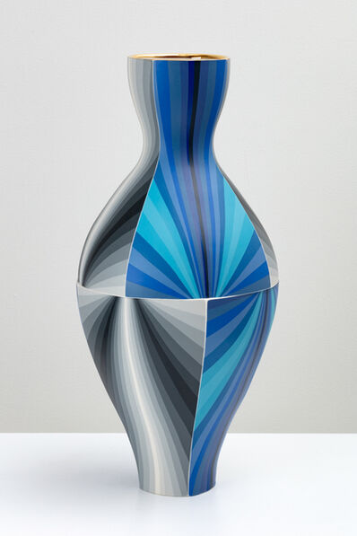 Peter Pincus, 'Twisting Blue Gradient Vase', 2020