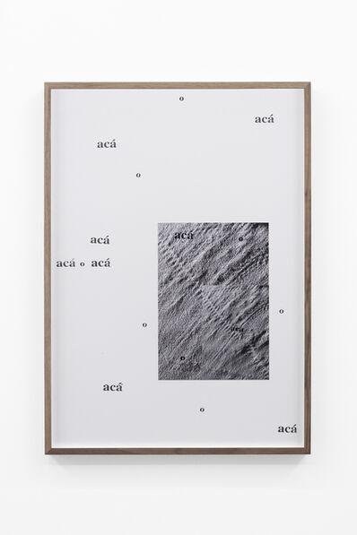 Adrien Missika, 'Camino por desierto (O acá o acá o acá o acá o acá o acá o acá o acá)', 2018