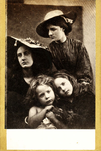 Julia Margaret Cameron, 'Summer Days (May Prinsep, Freddy Gould, Lizzie Koewen, Mary Ryan)', 1866/1870c