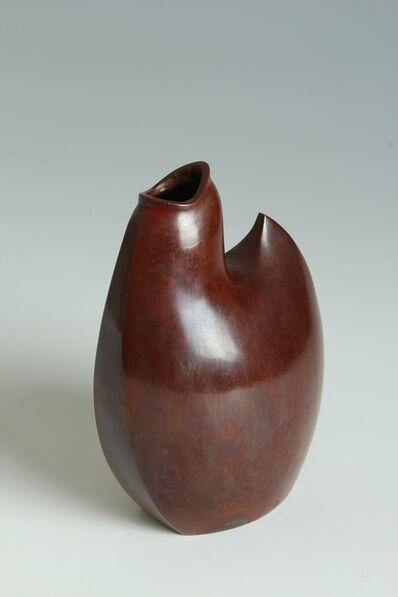 Yasumi Nakajima II, 'Bronze Plover Vase (T-3944)', Showa era (1926, 1989), 1970s