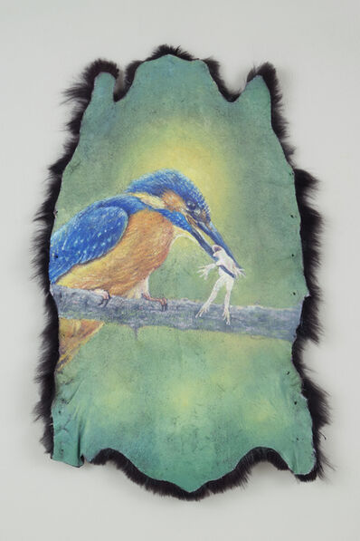 Jang Jongwan, 'Blue Birds and Frog', 2017