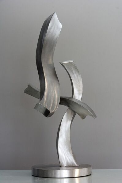 Kevin Robb, 'A Glimpse of Fun - Intersecting, rippling s-curved bands of stainless steel', 2020