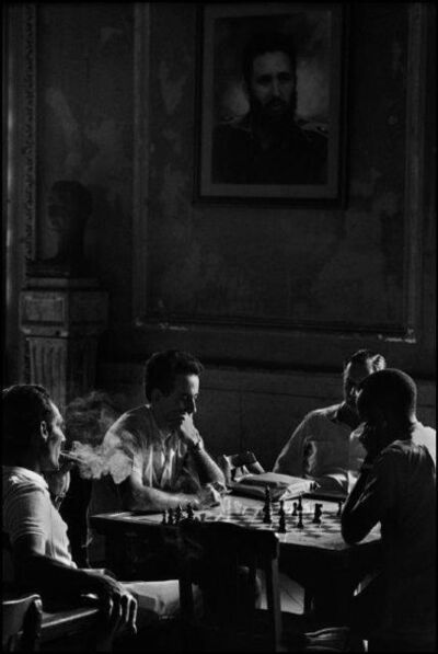 "René Burri, 'Chess players at the ""Spanish Club"" of the Teatro Garcia Lorca, Havana', ca. 1960s"