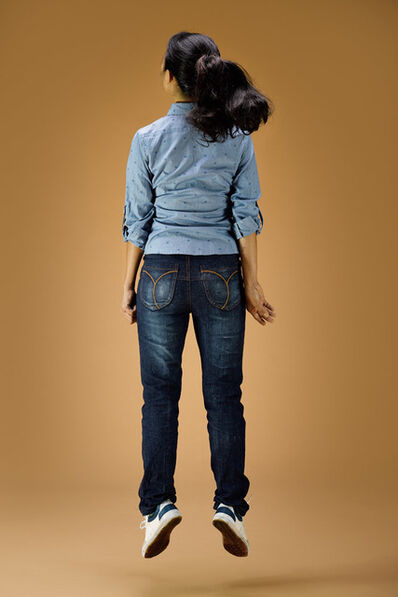 Leung Chi Wo + Sara Wong, 'Young Girl In Blue Jumping Up', 2014