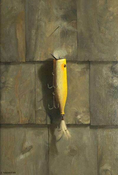 John Morfis, 'Yellow Plug on Cedar Shake', 2018