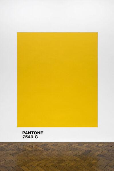 Haim Steinbach, 'pantone7549c', 2018