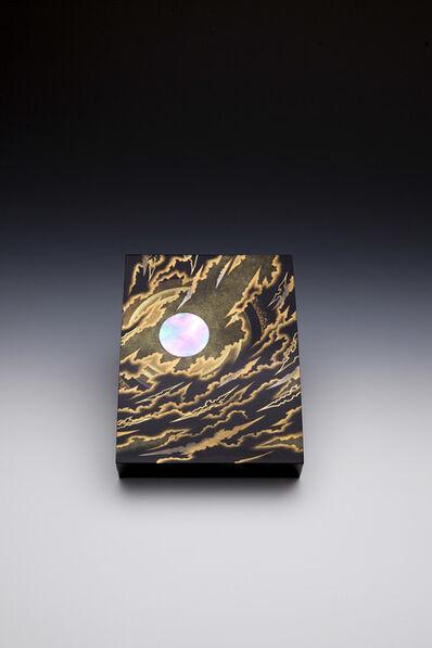 """Yoshio Okada, '""""Fleeting Clouds, Icy Disk"""" Maki-e Lacquer Box (T-3789)', 2013"""