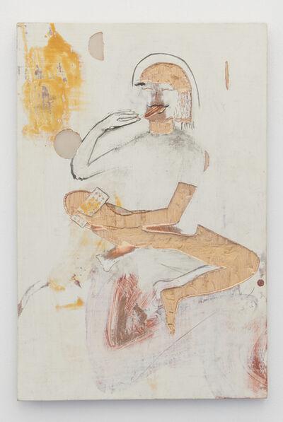 Gaia Fugazza, 'Woman eating contraceptive pill. Moons', 2015