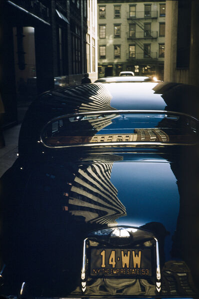 Werner Bischof, 'Reflection on a Jaguar, New York, USA', 1953
