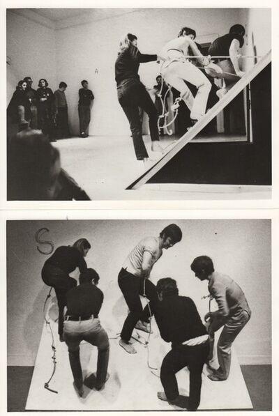 Claudio Abate, 'Simone Forti with Fabio Sargentini 'Piano Inclinato' / 'Slant Board', L'Attico, Rome (Piazza Di Spagna)', 1968