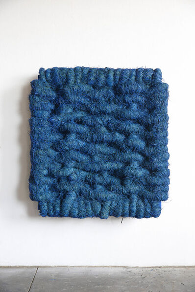 Olaf Holzapfel, 'Lichtbild Leinen Blau', 2014