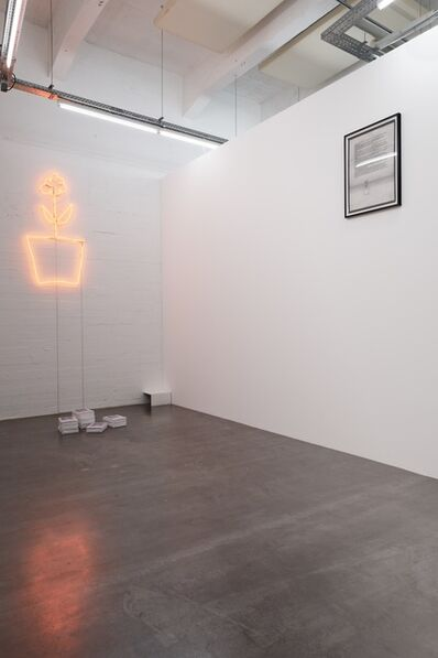 Saâdane Afif, 'Untitled (More More, 2001/ 2007 / Neon light, pile of photocopies, letter)', 2001/2007