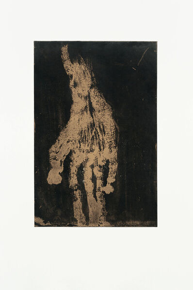 Georg Baselitz, 'Mano IV (Gold)', 2019