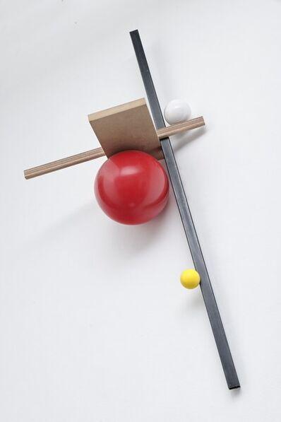 Mathieu Mercier, '3 axes , 3 sphères', 2014