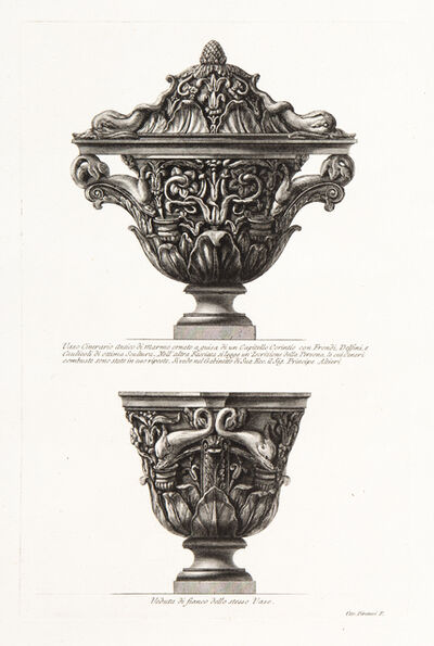 Giovanni Battista Piranesi, 'Fig. A. Two Views of Cinerary Vase', 1773-1778