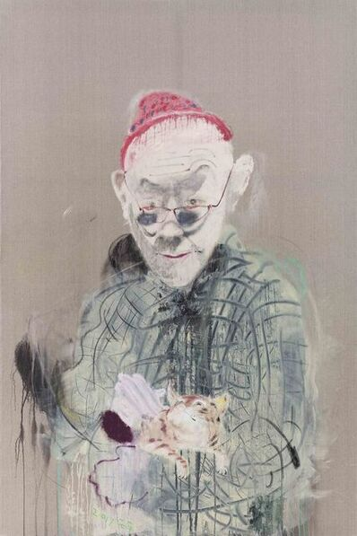 Wang Yuping, 'Self-Portrait Holding A Cat', 2017