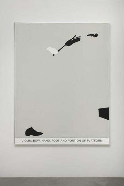 John Baldessari, 'Sediment: Violin, Bow, Hand, Foot and Portion of Platform', 2010