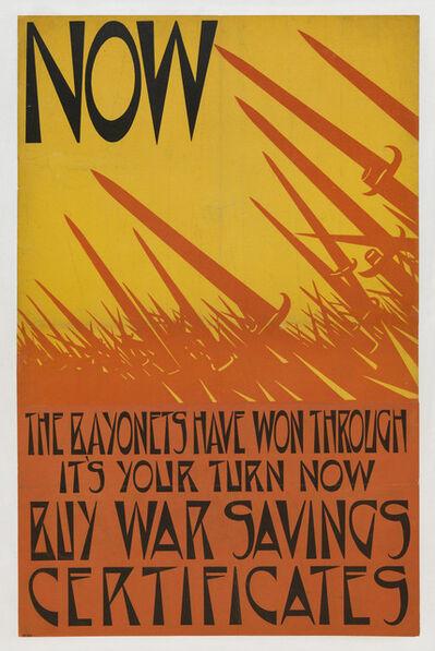 Christopher Richard Wynne Nevinson, 'Now the Bayonets have Won Through', 1918
