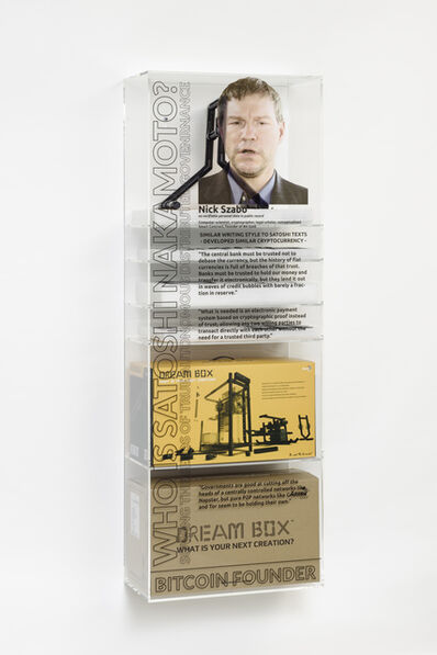 Simon Denny, 'Bitcoin/Blockchain Founder Myth ÒDreamboxÓ Gamer Custom Case Kit: Nick Szabo', 2016