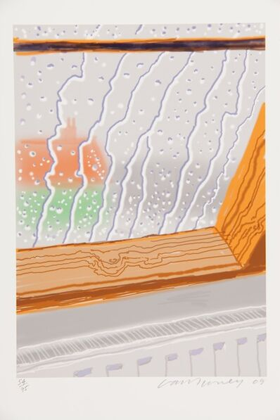 David Hockney, 'Rain on the Studio Window', 2009
